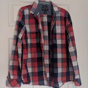 Men's American Rag plaid button down shirt L